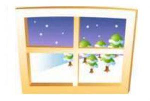 窓から見る雪